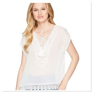 Ariat Adeline Top snow White Short Sleeve Pullover